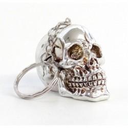 Totenkopf Schlüsselanhänger Chrom
