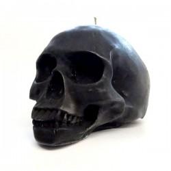 Totenkopfkerze schwarz